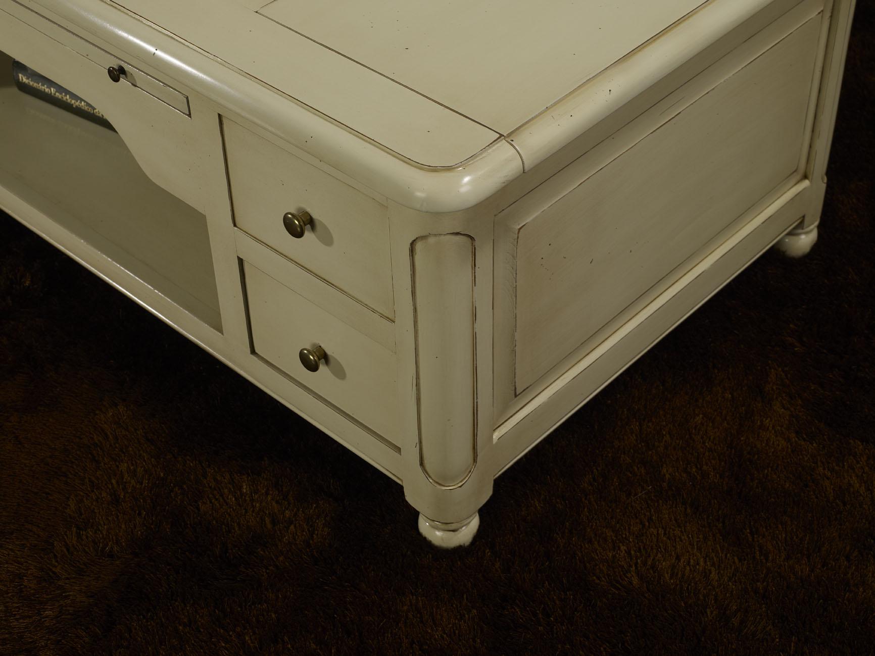 Table Basse Jeu D Chec En Merisier De Style Louis Philippe Laque  # Meuble Tv Patine