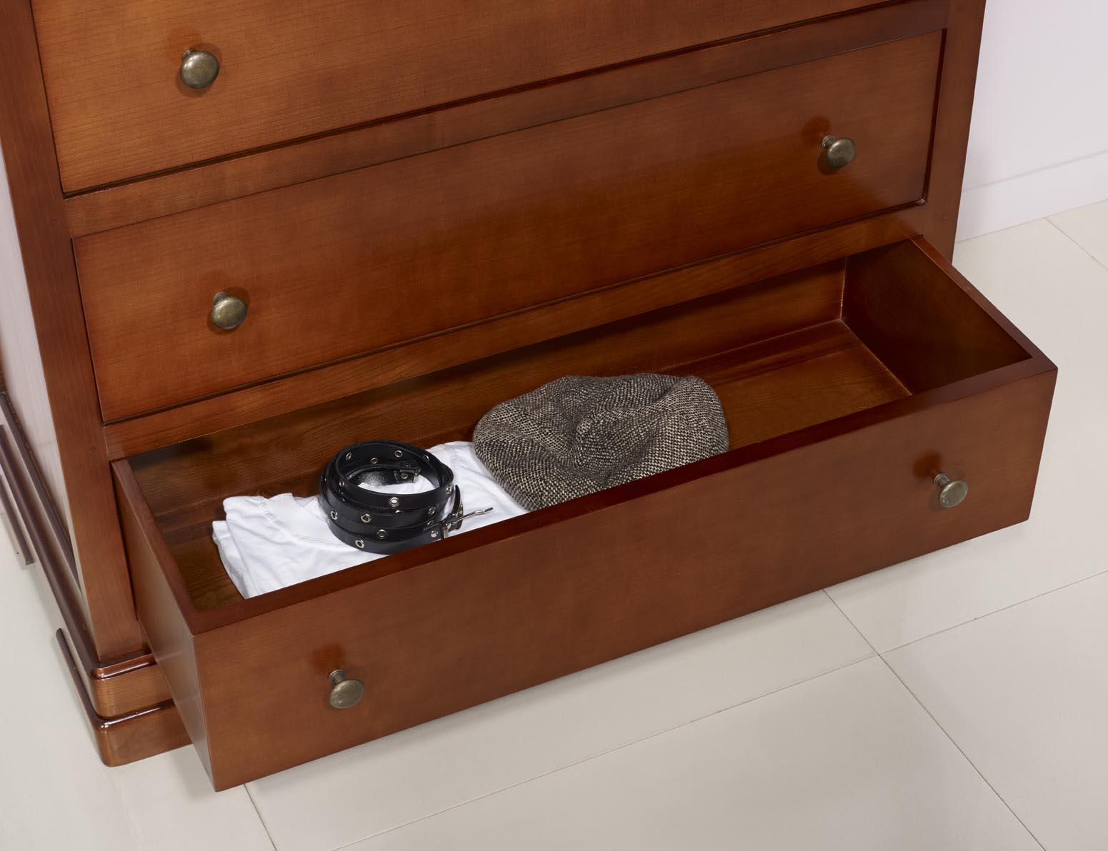 Commode 3 tiroirs am lie en merisier massif de style louis philippe meuble en merisier - Commode louis philippe merisier ...