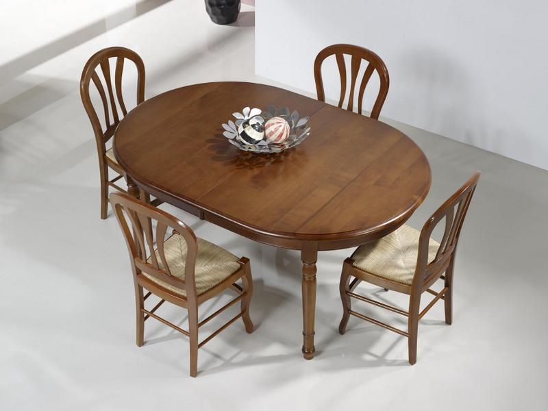 table ovale 160x120 en merisier massif de style louis. Black Bedroom Furniture Sets. Home Design Ideas