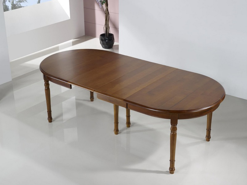 Table ovale 160x120 en merisier massif de style louis for Table ovale ancienne