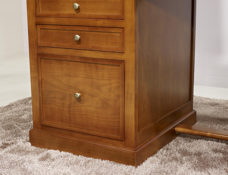 Bureau 5 tiroirs ne en merisier de style louis philippe for Bureau louis philippe