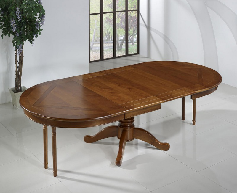 Table ovale 160 120 en merisier de style louis philippe for Table ovale ancienne