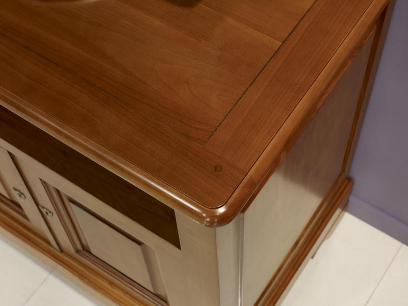 meuble tv lise en merisier massif de style louis philippe meuble en merisier. Black Bedroom Furniture Sets. Home Design Ideas