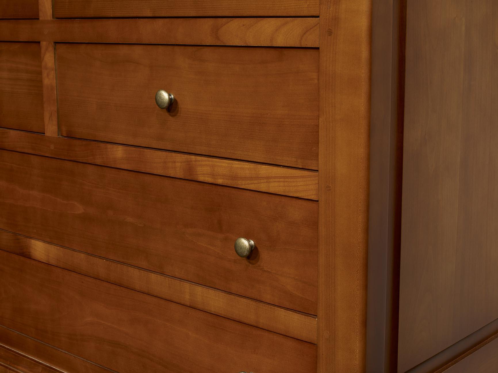 commode 7 tiroirs marie ralise en merisier massif de style louis philippe