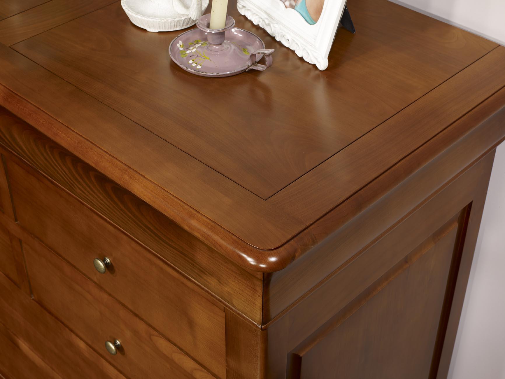Commode 7 tiroirs en merisier massif de style louis philippe meuble en merisier - Commode louis philippe merisier ...
