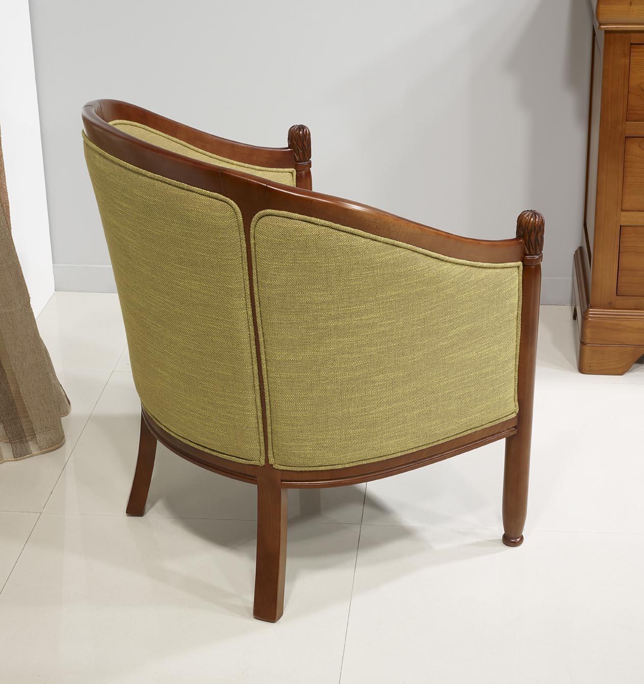 fauteuil cabriolet en h tre massif de style louis philippe meuble en merisier. Black Bedroom Furniture Sets. Home Design Ideas