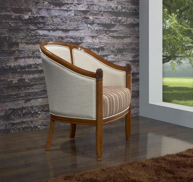 Fauteuil cabriolet en h tre massif de style louis philippe meuble en merisier - Petit fauteuil cabriolet ...