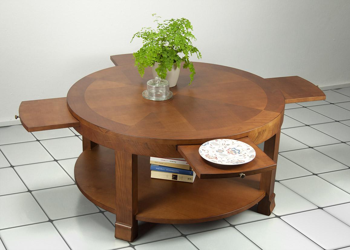 Style De Ronde En Elsa Merisier Basse Table ContemporainMeuble sdrxQCBth
