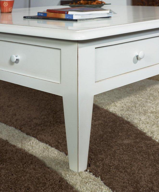 table basse 100x100 iris en merisier de style directoire ivoire patin et us meuble en merisier. Black Bedroom Furniture Sets. Home Design Ideas