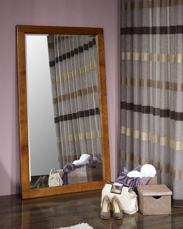 Miroir glace biseaut e en merisier massif meuble en merisier for Miroir hauteur 160