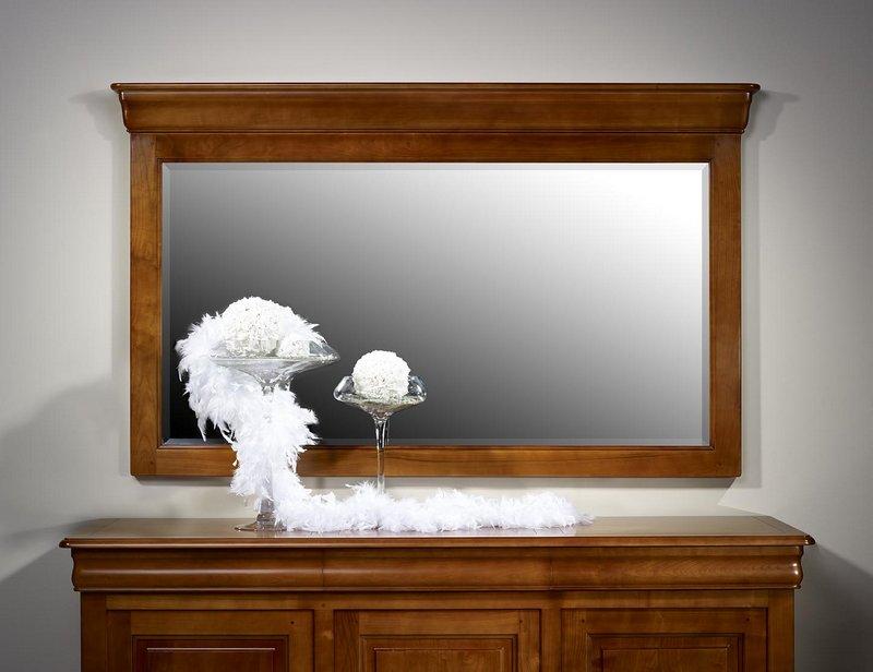 miroir pour buffet 4 portes en merisier massif de style louis philippe meuble en merisier. Black Bedroom Furniture Sets. Home Design Ideas