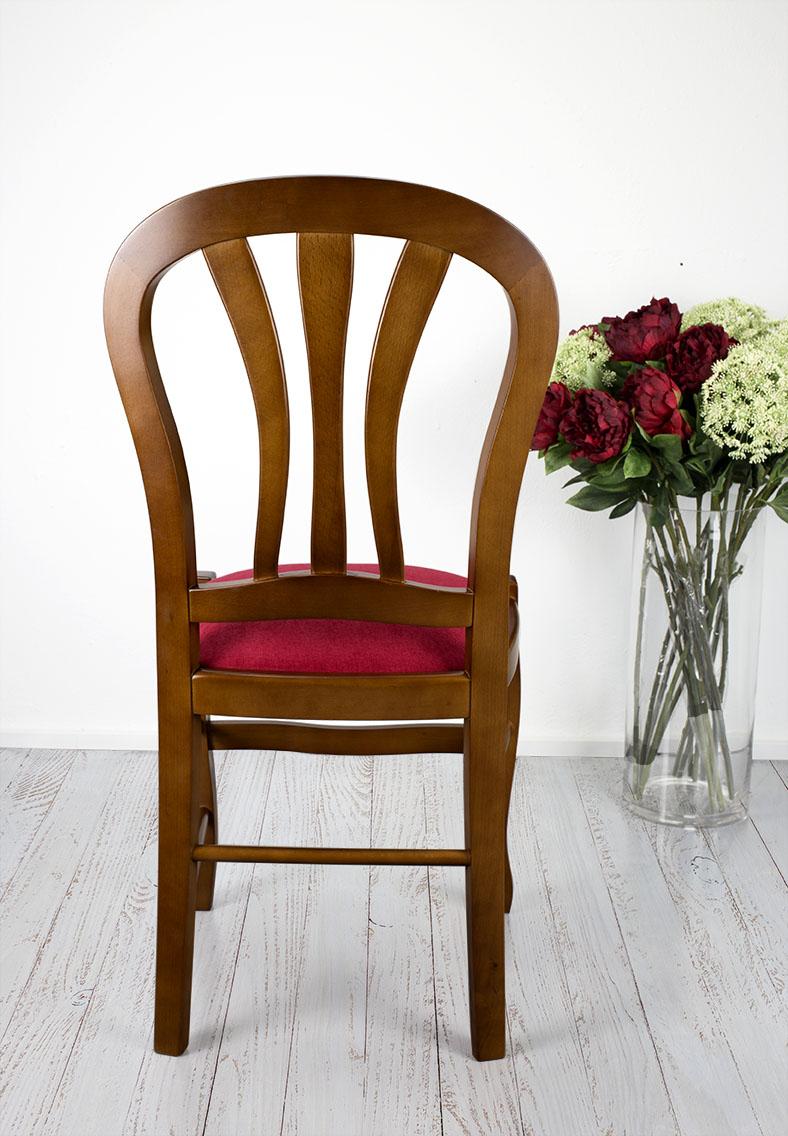 chaise camille en h tre massif assise tissu de style louis philippe meuble en merisier. Black Bedroom Furniture Sets. Home Design Ideas