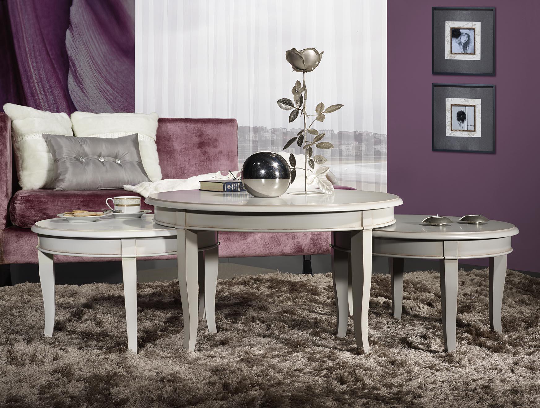 set de 3 tables basses rondes en merisier de style directoire meuble en merisier. Black Bedroom Furniture Sets. Home Design Ideas