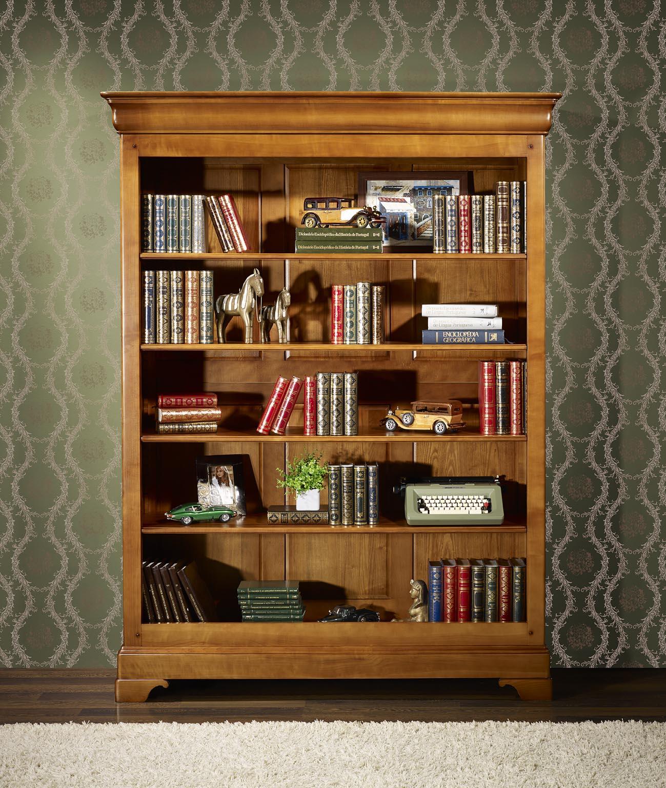 biblioth que en merisier massif de style louis philippe meuble en merisier. Black Bedroom Furniture Sets. Home Design Ideas