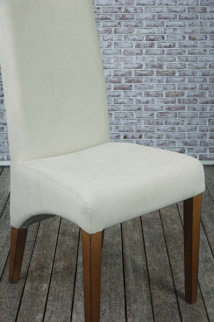 chaise en h tre massif assise et dos capitonn s de couleur ecru meuble en choisir le bois. Black Bedroom Furniture Sets. Home Design Ideas