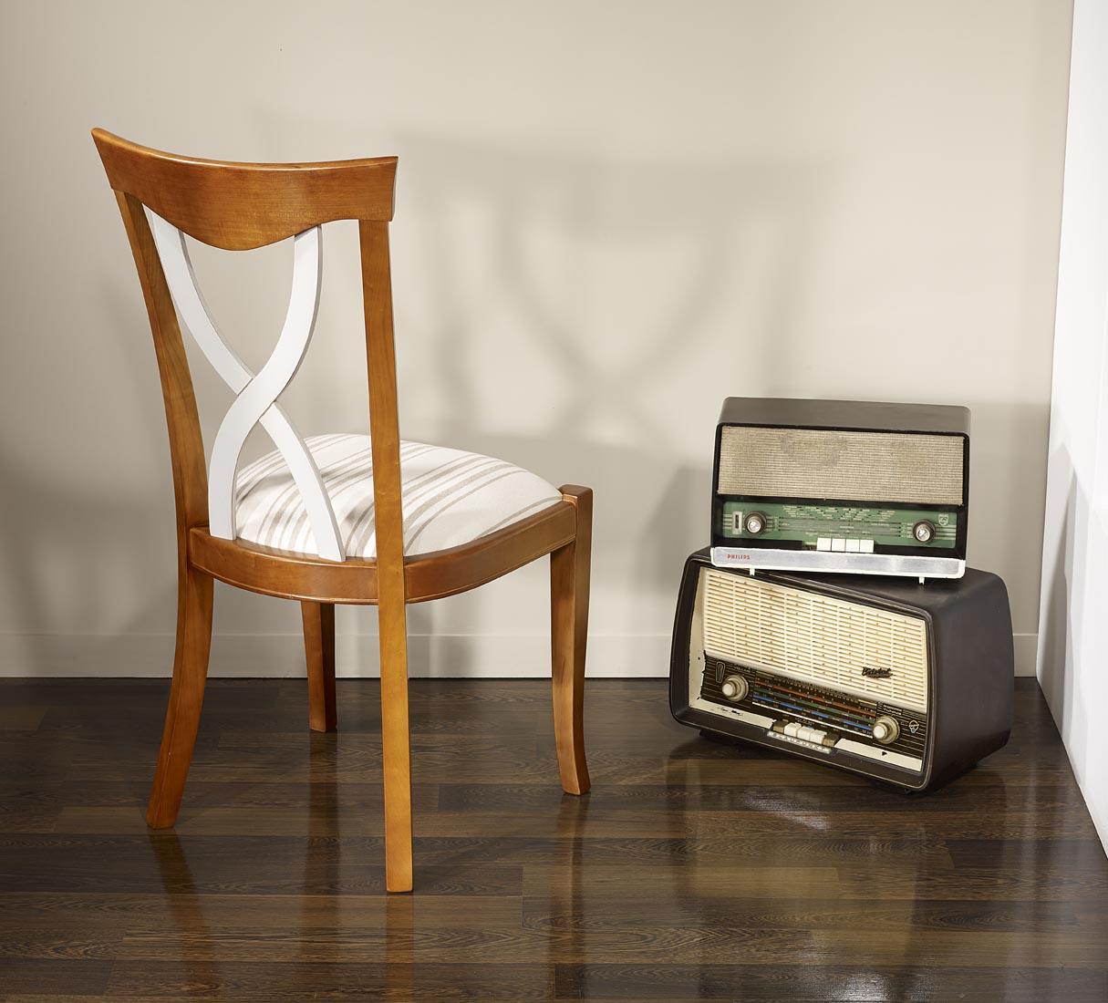 chaise lilas en merisier massif de style louis philippe meuble en merisier. Black Bedroom Furniture Sets. Home Design Ideas