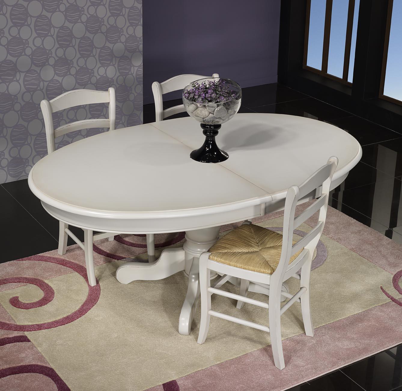 table ovale 135x110 pied central delphine en merisier massif de style louis philippe finition. Black Bedroom Furniture Sets. Home Design Ideas