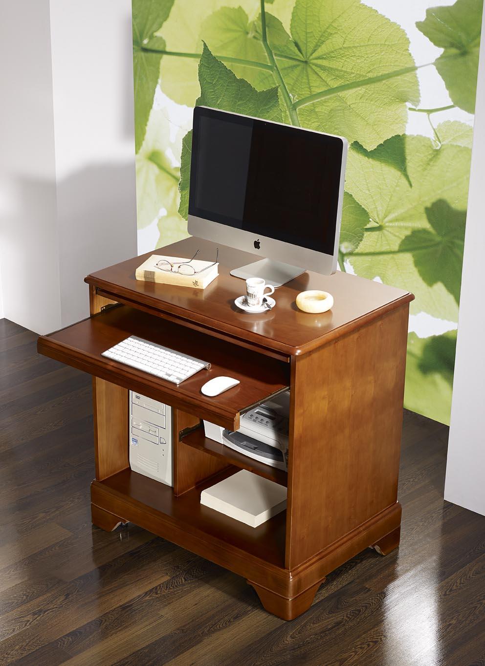 petit bureau informatique en merisier de style louis philippe meuble en merisier. Black Bedroom Furniture Sets. Home Design Ideas