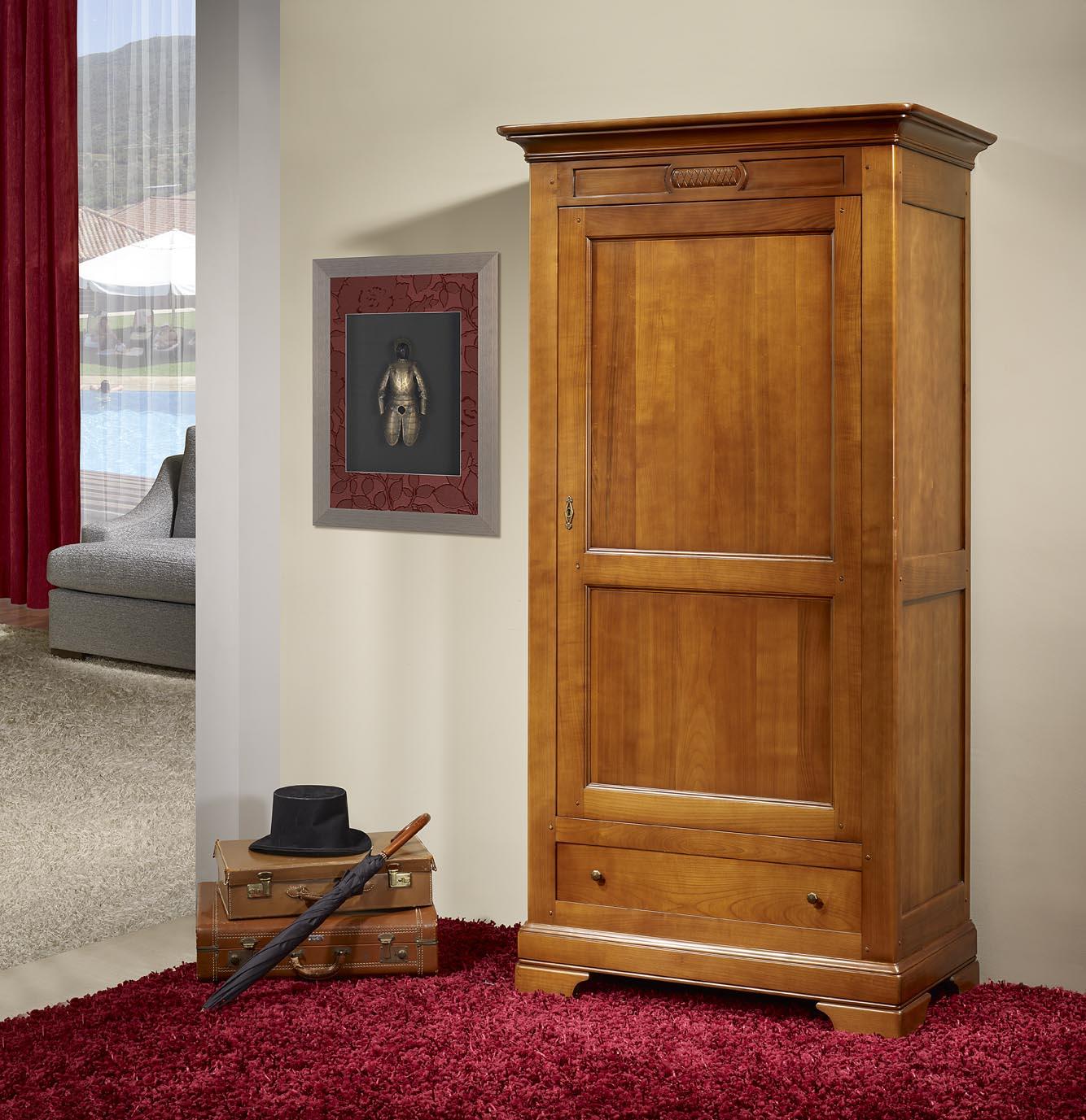 Bonnetière 1 porte 1 tiroir réalisée en Merisier Massif de style  Directoire