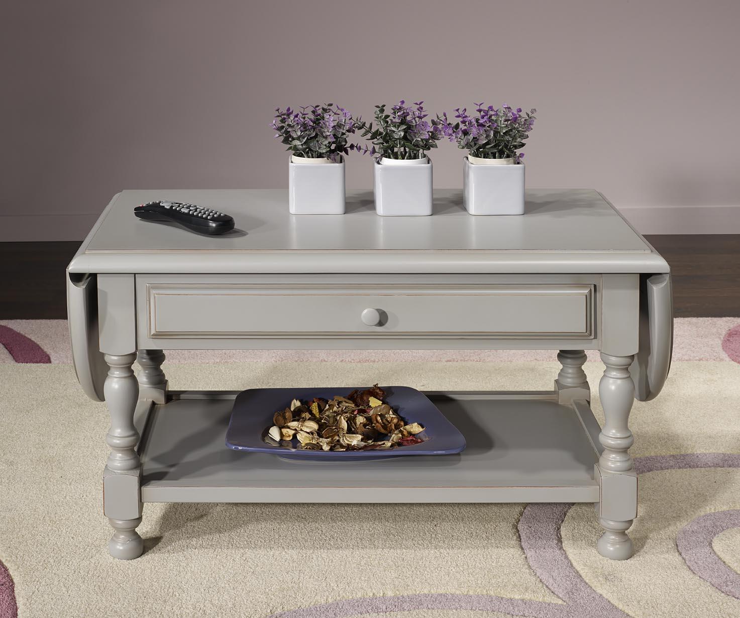 Table basse volets laure en merisier massif de style for Table basse en merisier