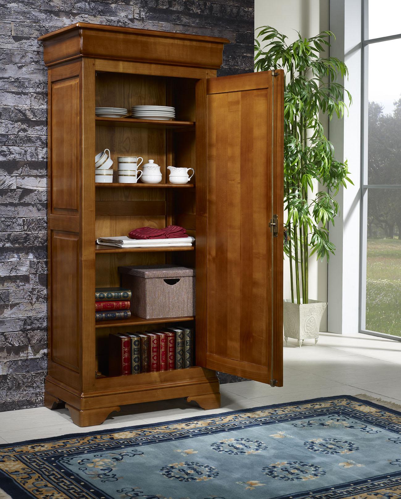 bonneti re en merisier massif de style louis philippe meuble en merisier. Black Bedroom Furniture Sets. Home Design Ideas