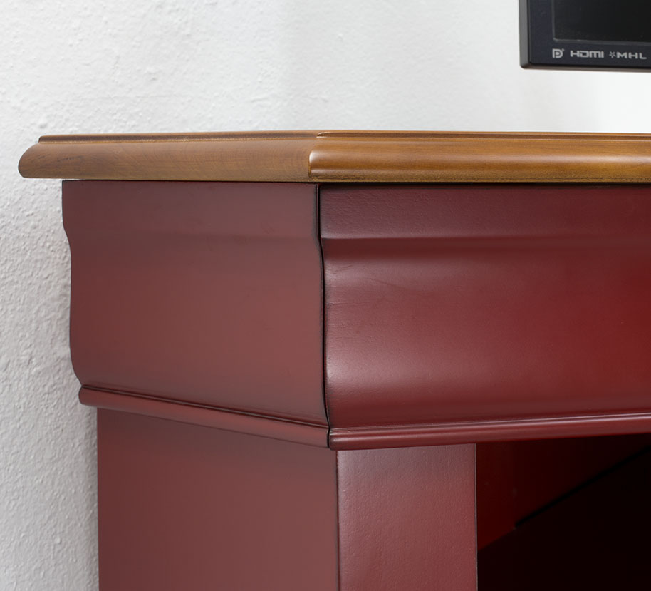 meuble d 39 angle tv 2 portes en merisier massif de style louis philippe meuble en merisier. Black Bedroom Furniture Sets. Home Design Ideas