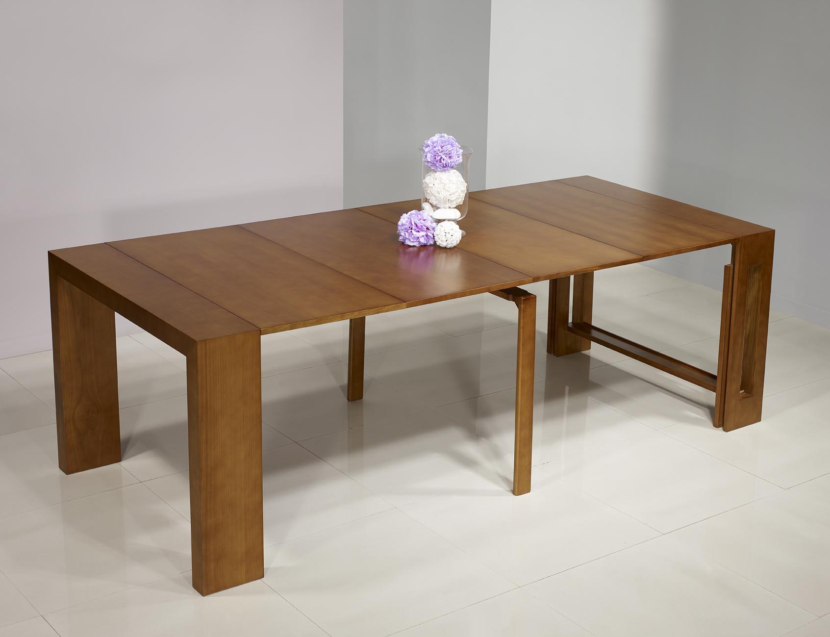 console extensible en merisier contemporaine 4 allonges meuble en merisier. Black Bedroom Furniture Sets. Home Design Ideas
