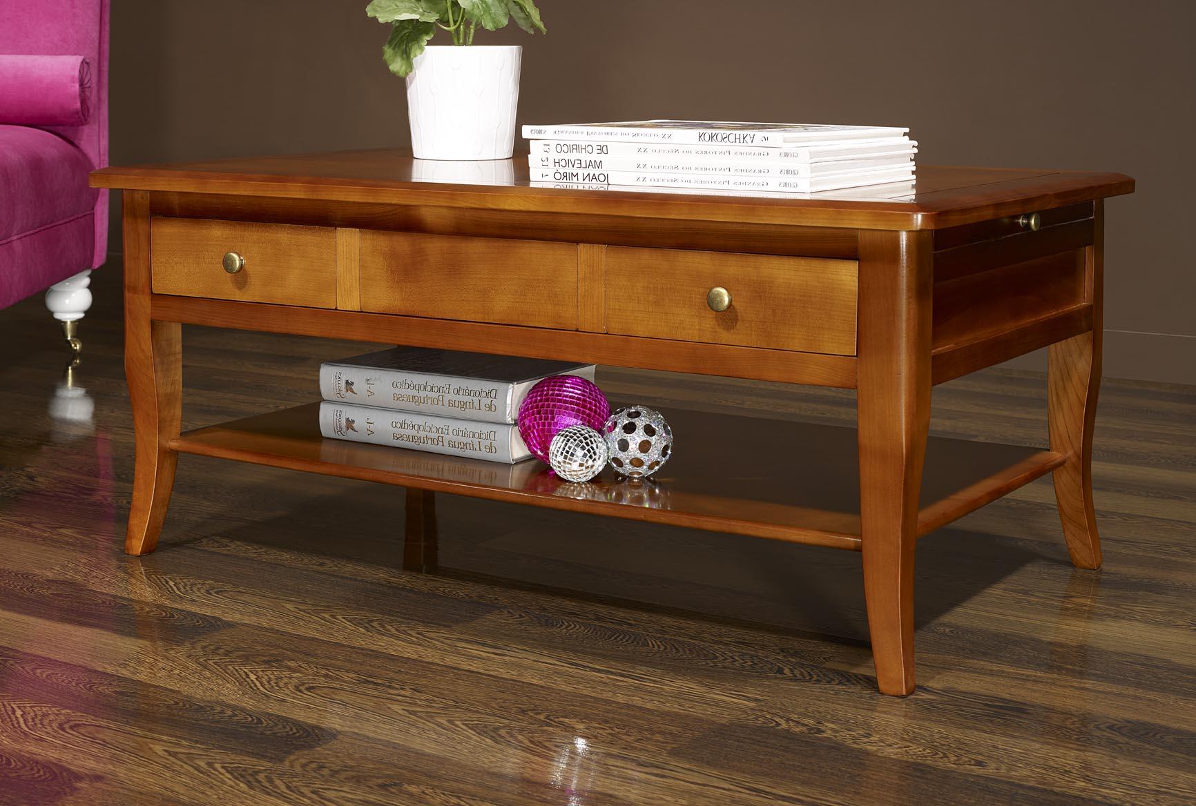 table basse rectangulaire e en merisier de style louis. Black Bedroom Furniture Sets. Home Design Ideas