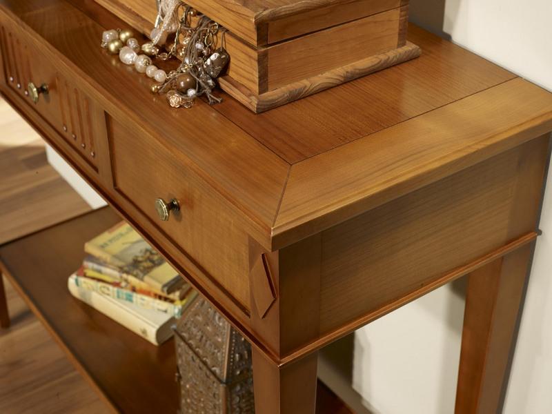 console leslie en merisier de style directoire meuble en merisier. Black Bedroom Furniture Sets. Home Design Ideas