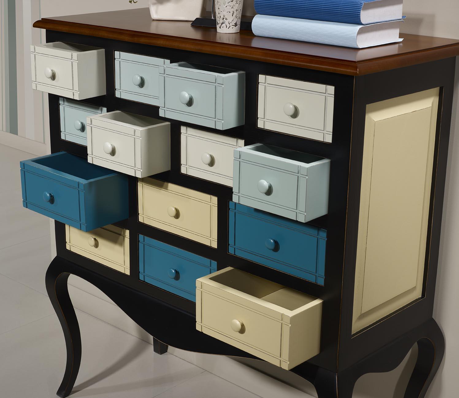 commode ou meuble d 39 entr e selena en merisier et chataignier multicolore meuble en merisier. Black Bedroom Furniture Sets. Home Design Ideas