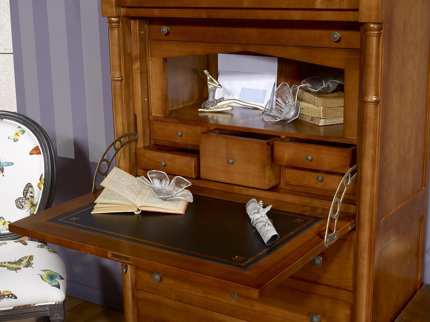 meuble secr taire elise en merisier de style empire meuble en merisier. Black Bedroom Furniture Sets. Home Design Ideas
