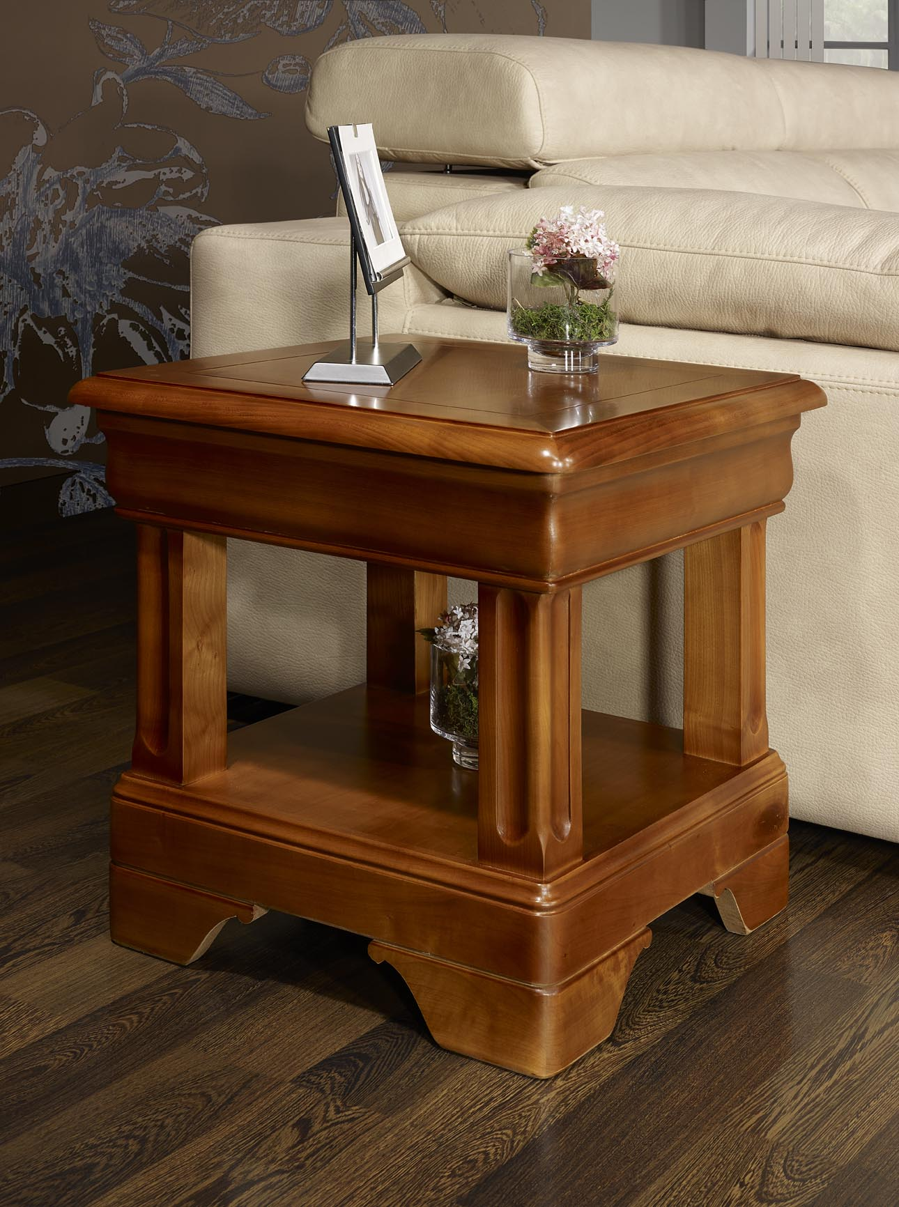 Bout de canap ou table basse en merisier de style louis philipe meuble en - Petite table basse carree ...