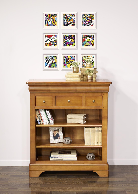 bibus val rie en merisier massif de style louis philippe meuble en merisier. Black Bedroom Furniture Sets. Home Design Ideas