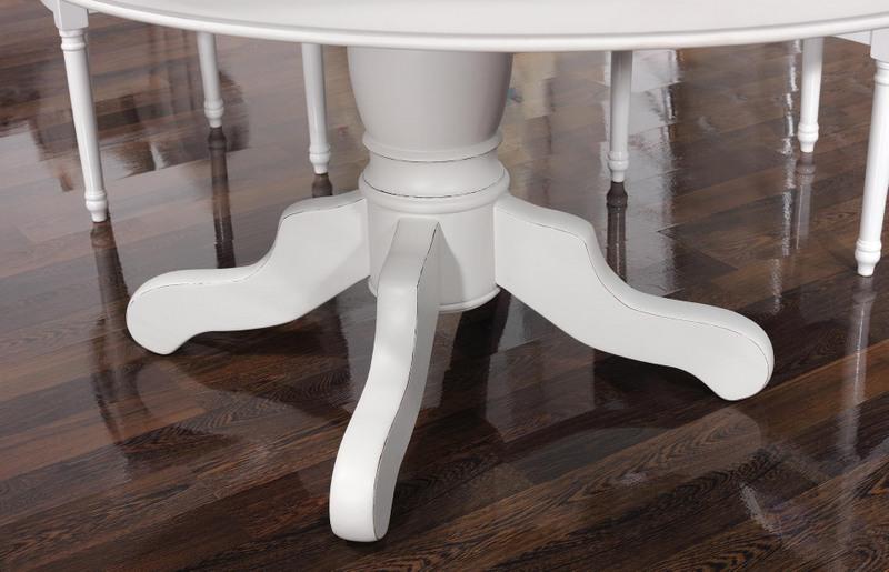 table ovale pied central en merisier massif 160x120 5. Black Bedroom Furniture Sets. Home Design Ideas
