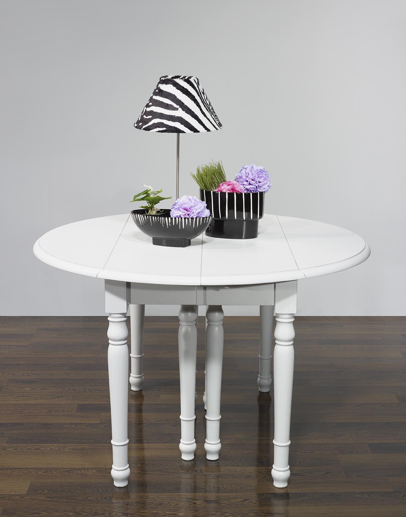 table ronde volets diametre 120 en merisier massif 6. Black Bedroom Furniture Sets. Home Design Ideas