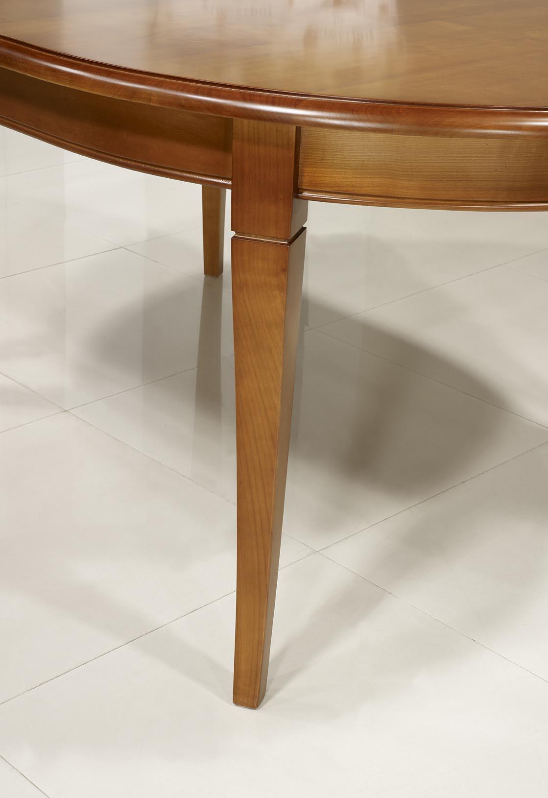 Table Ovale 180*120 En Merisier Massif De Style Louis