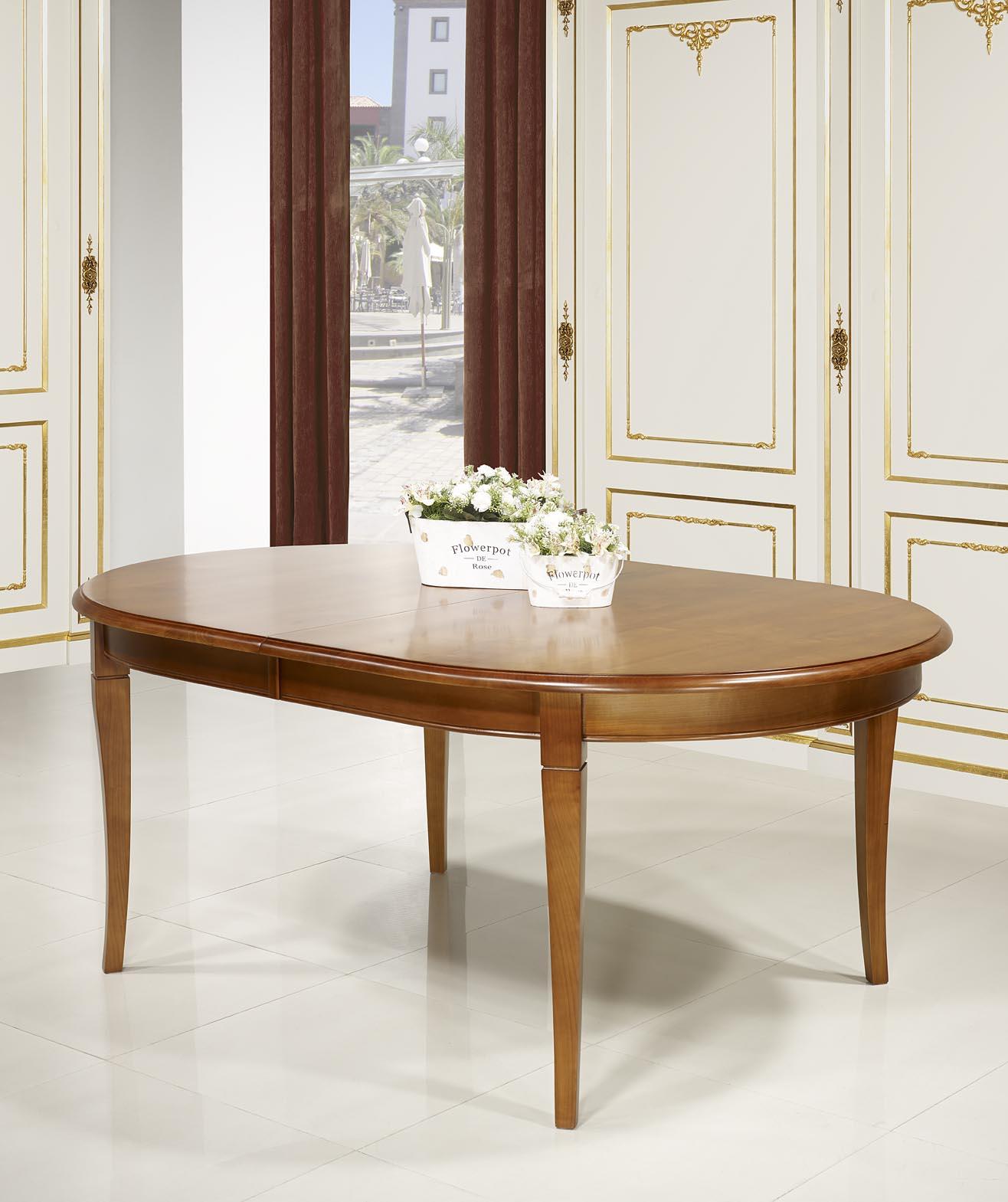 table ovale 180 120 en merisier massif de style louis philippe 5 allonges de 40 cm meuble en. Black Bedroom Furniture Sets. Home Design Ideas