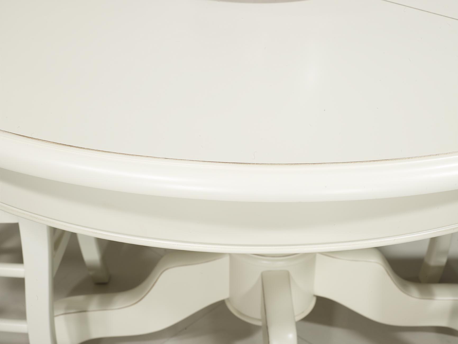 Table ronde pied central en merisier massif de style louis for Table ronde marbre pied central