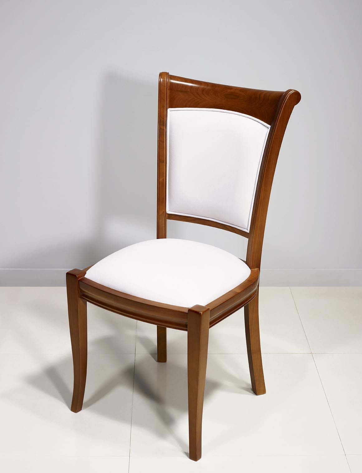 Chaise ine en merisier massif de style louis philippe meuble en merisier - Chaises louis philippe cannees ...
