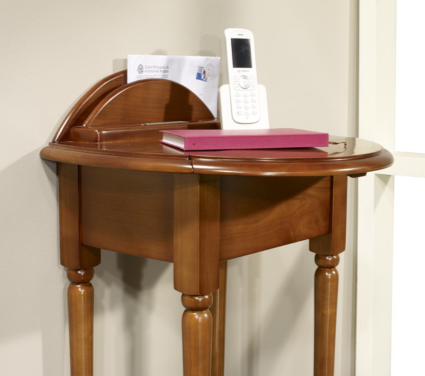 table t l phone am lie en merisier de style louis philippe meuble en merisier. Black Bedroom Furniture Sets. Home Design Ideas