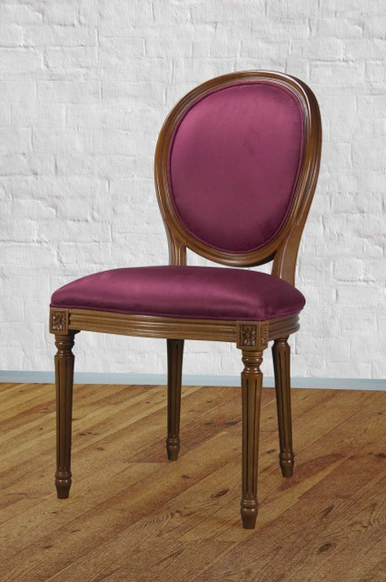 chaise emeline en merisier massif de style louis xvi su dine bordeaux meuble en merisier. Black Bedroom Furniture Sets. Home Design Ideas