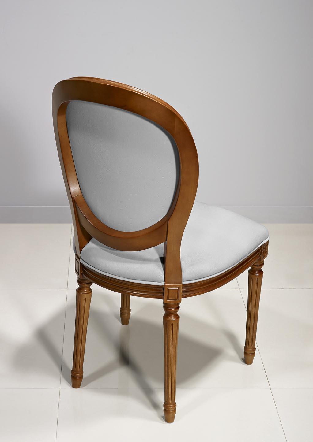 Chaise Emeline en Merisier Massif de style Louis XVI , meuble en
