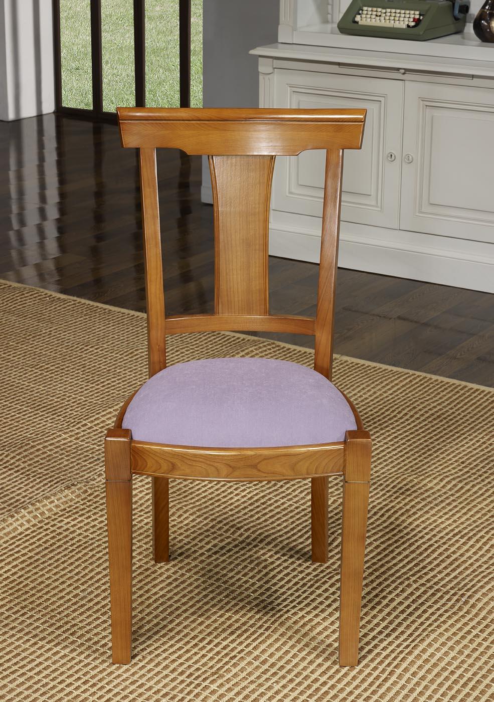chaise lou en merisier massif de style louis philippe tissu ameublement meuble en merisier. Black Bedroom Furniture Sets. Home Design Ideas