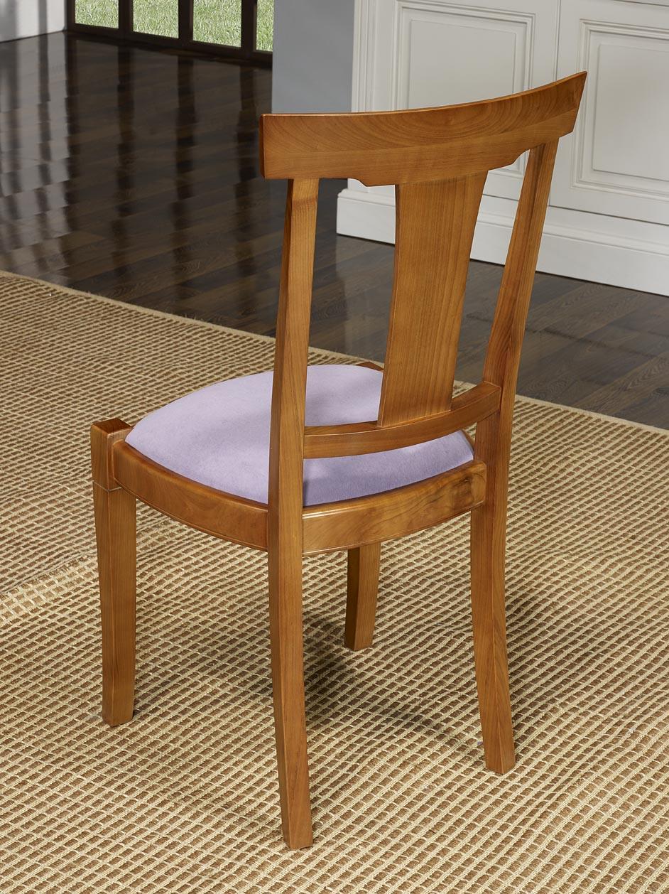 Chaise lou en merisier massif de style louis philippe tissu ameublement meuble en merisier - Chaise style louis philippe ...