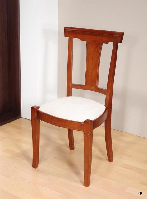 chaise lou en merisier massif de style louis philippe moleskine blanche meuble en merisier. Black Bedroom Furniture Sets. Home Design Ideas