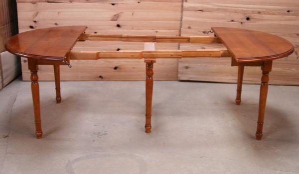 Table ronde volets diametre 110 de style louis philippe - Diametre table ronde 4 personnes ...