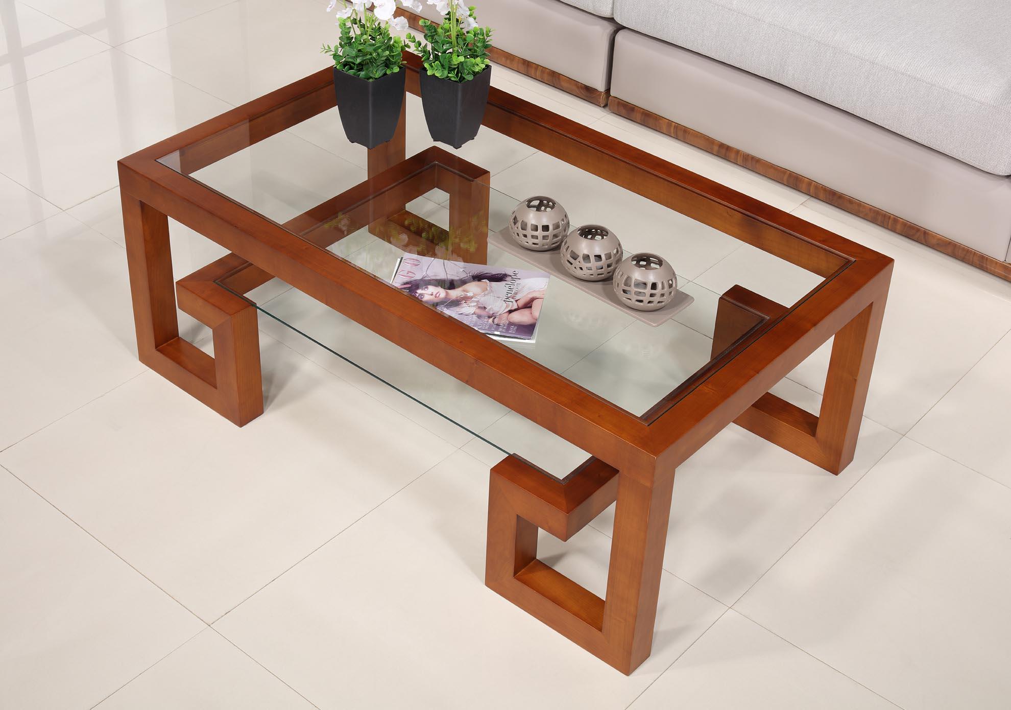 Table basse rectangulaire alice de ligne contemporaine en Table de sejour en verre