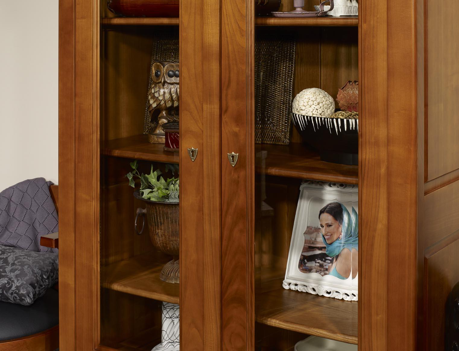 biblioth que 2 portes en merisier massif de style louis philippe meuble en merisier. Black Bedroom Furniture Sets. Home Design Ideas