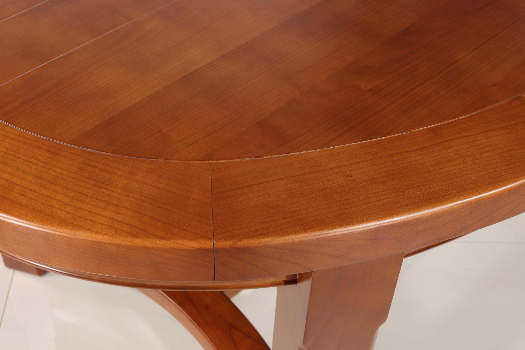 Table de ferme ovale Dora en Merisier Massif de style Campagnard ...