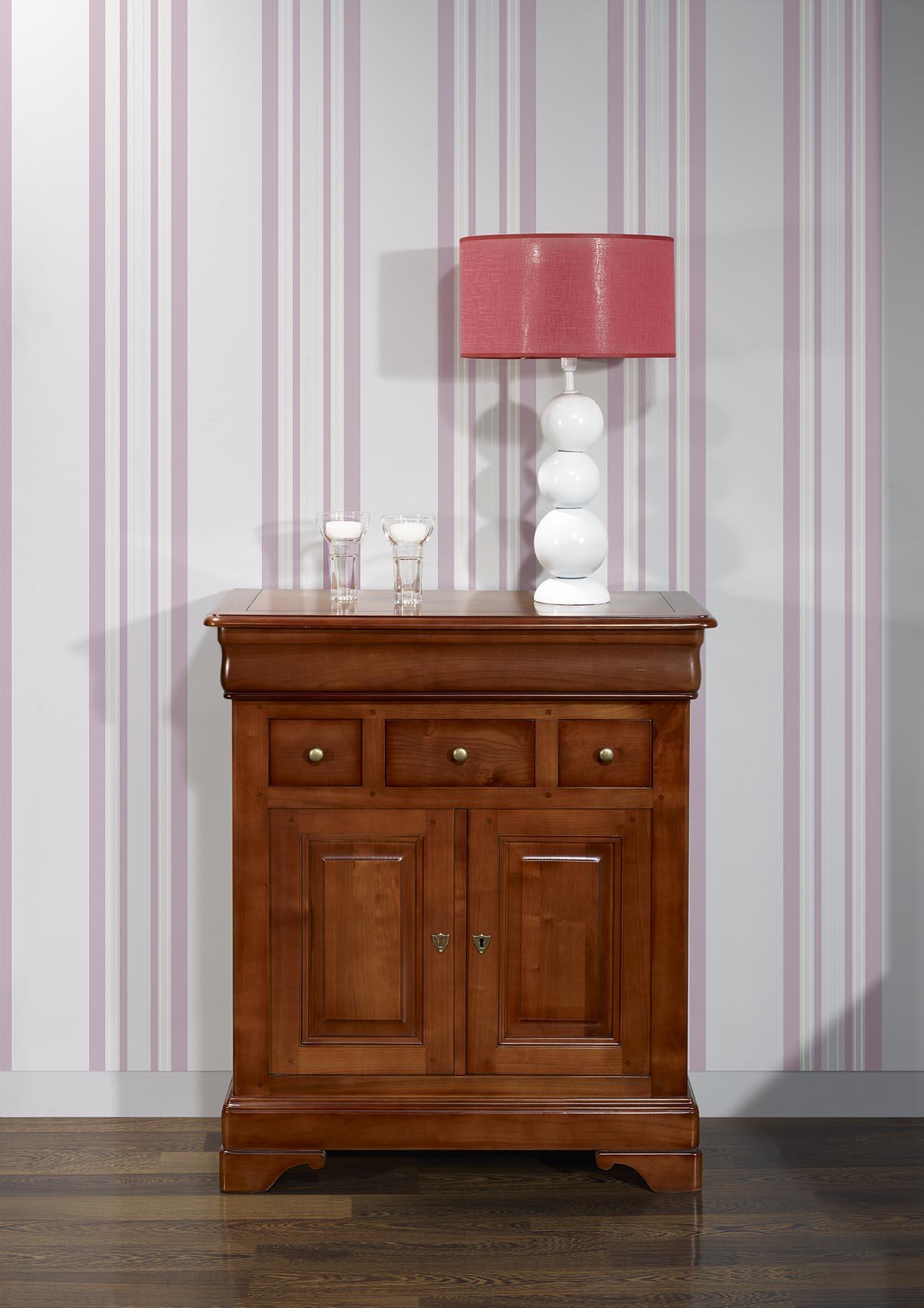 petit buffet maria jos e en merisier massif de style louis philippe meuble en merisier. Black Bedroom Furniture Sets. Home Design Ideas